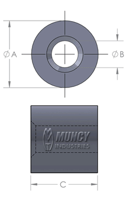 Aluminum Button Stops for Wire Rope & Cable - Muncy Industries