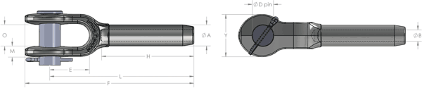 Open Boom Pendant Swage Socket Diagram