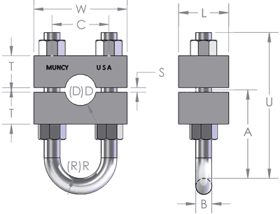 Wire Rope Cable Clamp Diagram