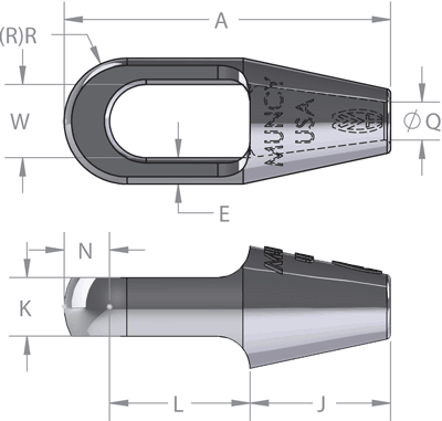 Closed Rope Spelter Socket DIagram