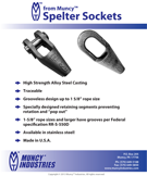 Spelter Sockets Information